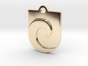 Waveguard Pendant in 14K Yellow Gold