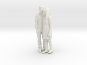Printle C Couple 020 - 1/24 - wob in White Strong & Flexible
