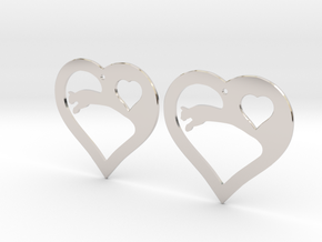 The Eager Hearts (precious metal earrings) in Platinum