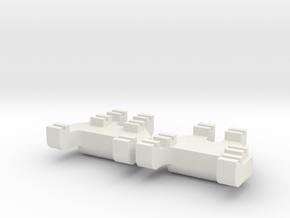 HO-HOn3 Track Gauges - Code 83 in White Natural Versatile Plastic