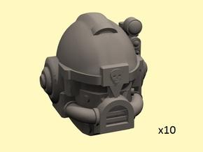 28mm Astrowarrior heads in Smoothest Fine Detail Plastic
