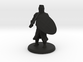 Medieval Knight in Black Natural Versatile Plastic