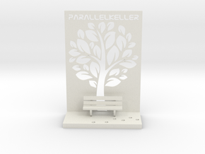 The Parallelkeller book rest in White Strong & Flexible