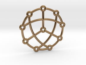 Petersen Graph Pendant in Natural Brass