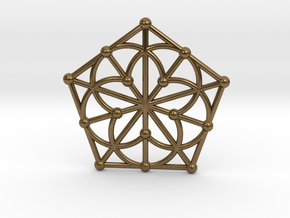 Generalized Quadrangle Pendant, Variation 1 in Natural Bronze