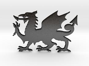 Welsh Dragon for Henry Morgan in Matte Black Steel