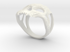 Ring skull in White Natural Versatile Plastic: 7.75 / 55.875