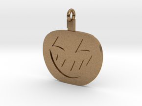 Jack-O-Lantern Pendant in Natural Brass