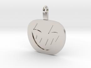 Jack-O-Lantern Pendant in Rhodium Plated Brass