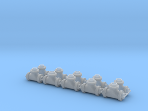 """1:87 24"""" Pipe Tee Ver3 10ea in Smooth Fine Detail Plastic"""