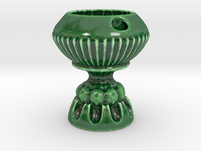 The Nonary Chalice in Gloss Oribe Green Porcelain