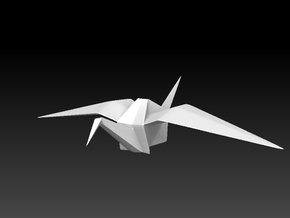 PaperCrane Hi in White Natural Versatile Plastic
