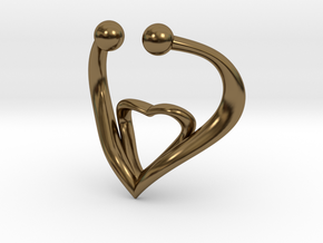 The Heart Fake septum ring nose, ring septum jewel in Polished Bronze