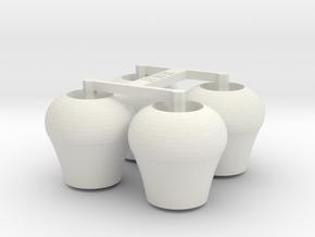 4x Bügelrolle in White Natural Versatile Plastic