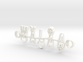 Walaa Necklace Jewelry in White Processed Versatile Plastic