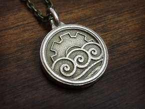 KorrAsami Pendant in Polished Bronzed Silver Steel