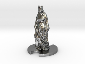 Medieval Queen in Polished Silver