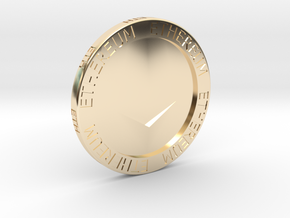 Ethereum Poker Chip/Ball Marker in 14K Yellow Gold