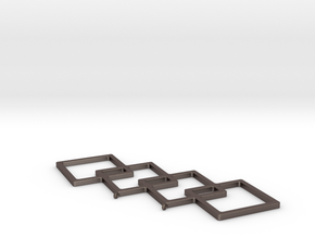 Angled Boxes in Polished Bronzed Silver Steel