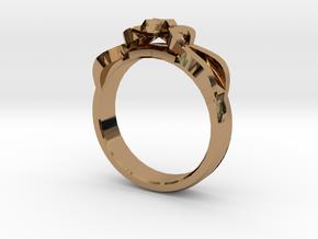 Designer Ring #1 in Polished Brass: 7 / 54