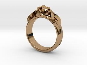 Designer Ring #2 in Polished Brass: 7 / 54