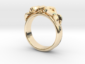 Designer Ring #3 in 14k Gold Plated Brass: 8 / 56.75