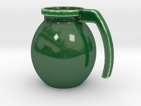 """Mug """"Grenade"""" in Gloss Oribe Green Porcelain"""