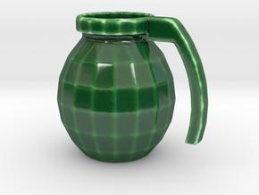 Mug of respect (Grenade F1) in Gloss Oribe Green Porcelain