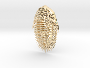 Trilobite Pendant in 14k Gold Plated Brass