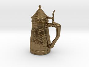 Ornamental Beer Stein Game Token in Natural Bronze