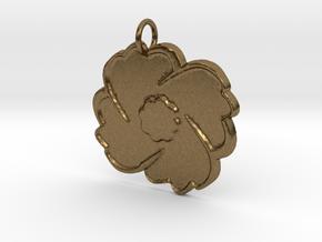 Poppy Pendant in Natural Bronze