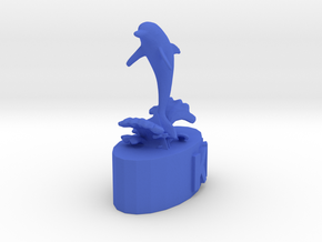Dolphin Knight in Blue Processed Versatile Plastic