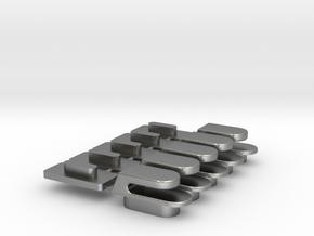 IBM Model F hooks in Natural Silver