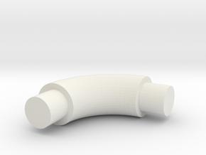 Elbow-4 in White Natural Versatile Plastic