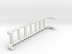 1/87 Rear Ladder in White Natural Versatile Plastic