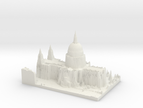 St Paul's Cathedral, London in White Natural Versatile Plastic