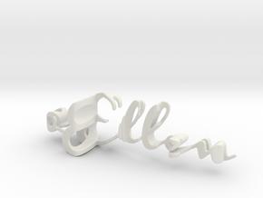 3dWordFlip: 0-Ellen/0-Joris in White Natural Versatile Plastic