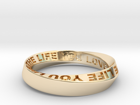 Live The Life You Love - Mobius Ring 4.5mm band in 14K Yellow Gold: 7.75 / 55.875