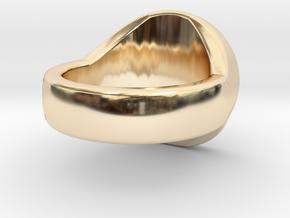 Pentagram Signet Ring in 14k Gold Plated