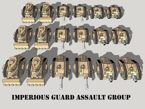 3mm Imperious Guard Assault Group (18pcs) in Smooth Fine Detail Plastic