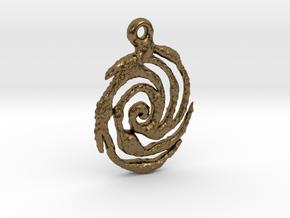Galaxy Pendant in Natural Bronze
