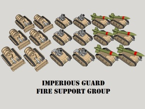 3mm IG Fire Support Group (18pcs) in Smooth Fine Detail Plastic