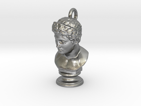 Head Of An Athlete in Natural Silver