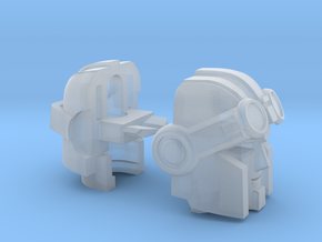 Whiny Hauler head customized for Universe Warpath in Smooth Fine Detail Plastic