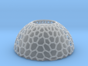 Bowl Honeycomb  in Smooth Fine Detail Plastic