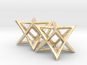 Star of David Earrings in 14k Gold Plated Brass: Small