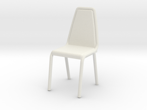 1:48 Vinyl Stacking Chair in White Natural Versatile Plastic: 1:48 - O
