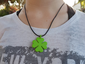 Good Luck Charm in Green Processed Versatile Plastic