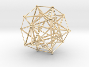 Five Tetrahedra, Variation 1 in 14k Gold Plated Brass