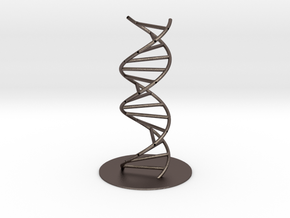 DNA Molecule Hollow, Large, 3 Sizes. in Polished Bronzed Silver Steel: 1:30